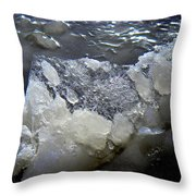 Frozen Blue 3 Throw Pillow