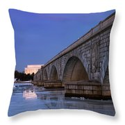 Frozen Bridges Throw Pillow