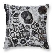 Frozen Bubbles Throw Pillow