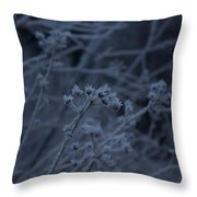 Frozen Buds Throw Pillow