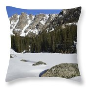 Frozen Colorado  Throw Pillow