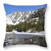 Frozen Colorado Lake Throw Pillow