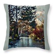 Frozen Creek II Painting Throw Pillow