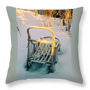 Frozen Dogsled Throw Pillow