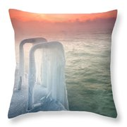 Frozen Throw Pillow by Evgeni Dinev
