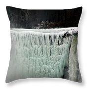 Frozen Falls Throw Pillow