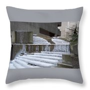 Frozen Fountain Throw Pillow