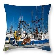 Frozen Hyannis Harbor Throw Pillow
