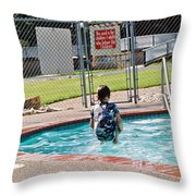 Frozen In Action Throw Pillow
