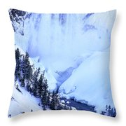 Frozen In Time Yellowstone National Park Throw Pillow