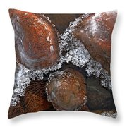 Frozen Jewels Throw Pillow