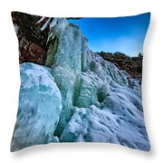 Frozen Kaaterskill Falls Throw Pillow