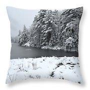 Frozen Lake 2 Throw Pillow