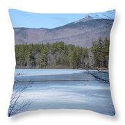 Frozen Lake Chocorua Throw Pillow