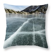 Frozen Lake In The High Sierra Throw Pillow