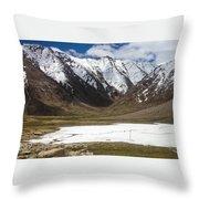 Frozen Lake Throw Pillow