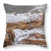 Frozen Land Throw Pillow