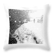 Frozen Moments - Walking Away Throw Pillow