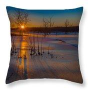 Frozen New Year Throw Pillow