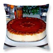 Frozen Pumpkin Mousse Torte Throw Pillow