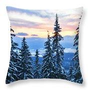Frozen Reflection 2 Throw Pillow