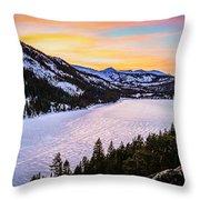Frozen Reflections At Echo Lake Throw Pillow