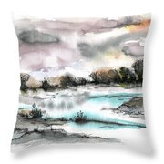 Frozen River Throw Pillow