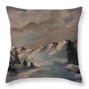 Frozen River Throw Pillow