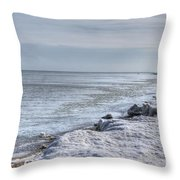 Frozen Sand Throw Pillow