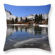 Frozen Sierra Lake Throw Pillow