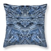 Frozen Symmetry Throw Pillow