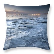 Frozen Town Throw Pillow