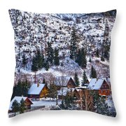 Frozen Village V2 Throw Pillow
