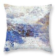 Frozen Vista Throw Pillow