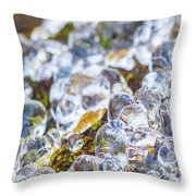 Frozen Water Droplets Throw Pillow