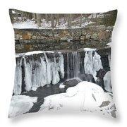 Frozen Waterfall Throw Pillow
