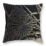Frozen Web Throw Pillow