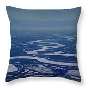 Frozen Yukon River - Alaska  Throw Pillow