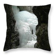 Frozen Zapata Falls Throw Pillow