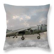 Frs1 Sea Harrier On Vertical Approach Throw Pillow