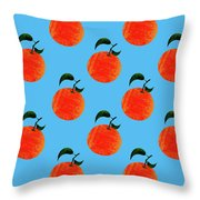Fruit 01_orange_pattern Throw Pillow
