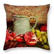 Fruit And Pitcher Throw Pillow