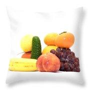 Fruit And Vegetables Ansamble Throw Pillow