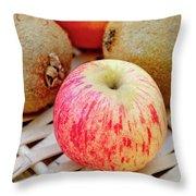 Fruit Basket. Apple. Throw Pillow