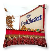 Fruit Basket Stand Throw Pillow