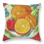 Fruit Bowl Throw Pillow