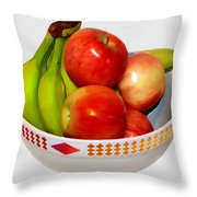 Fruit Bowl Still Life Throw Pillow