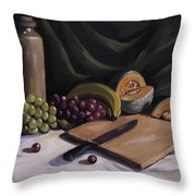 Fruit By The Light Throw Pillow