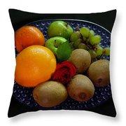 Fruit Dish Throw Pillow