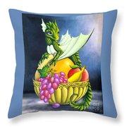 Fruit Dragon Throw Pillow